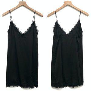 New Urban Outfitters Black Satin Slip Dress Size M